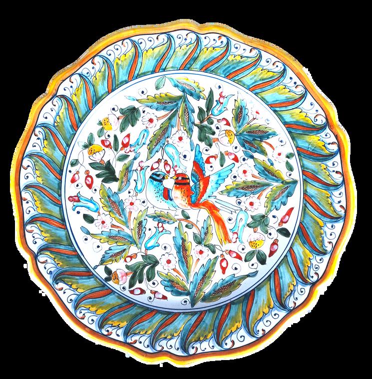 Round Serving Plate Love Birds