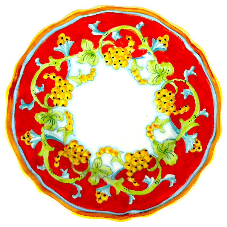 CORALLO SEMPLIFICATO Plate Salad Scallopped Edge