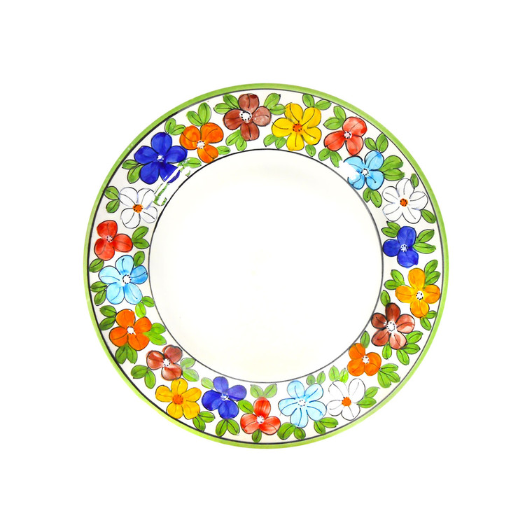 Salad plate daisy decoration deruta