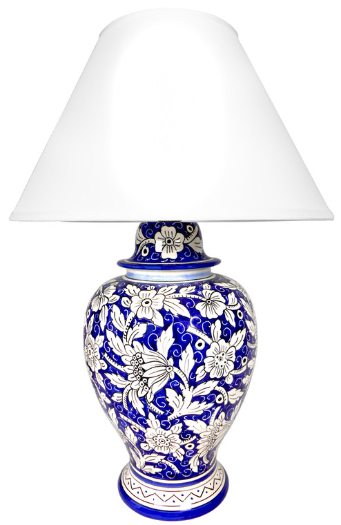 Floreale Blu Lamp ( lampshade is not included)