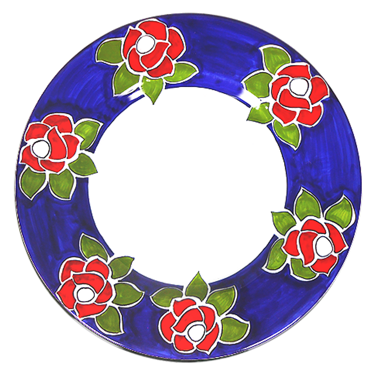 Roses Salad Plate