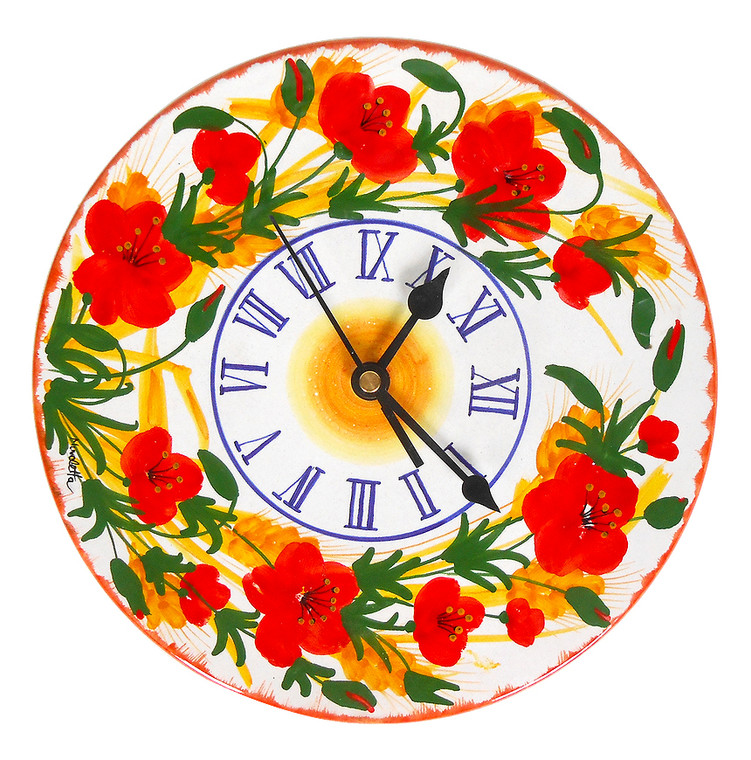 Poppies Clock