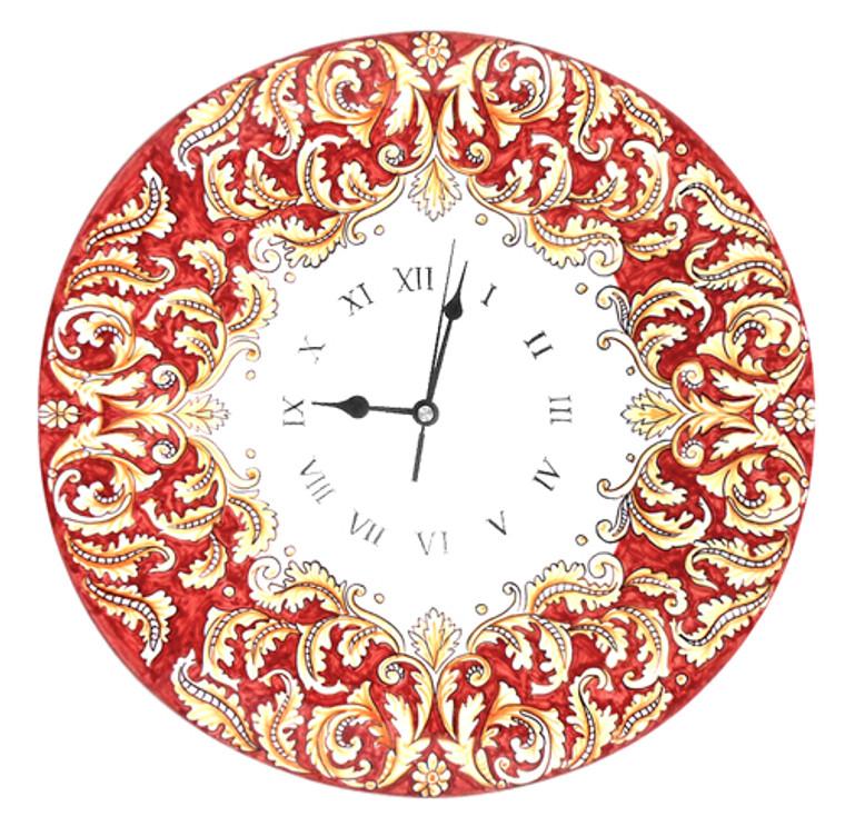 Foglie Rossicce Clock