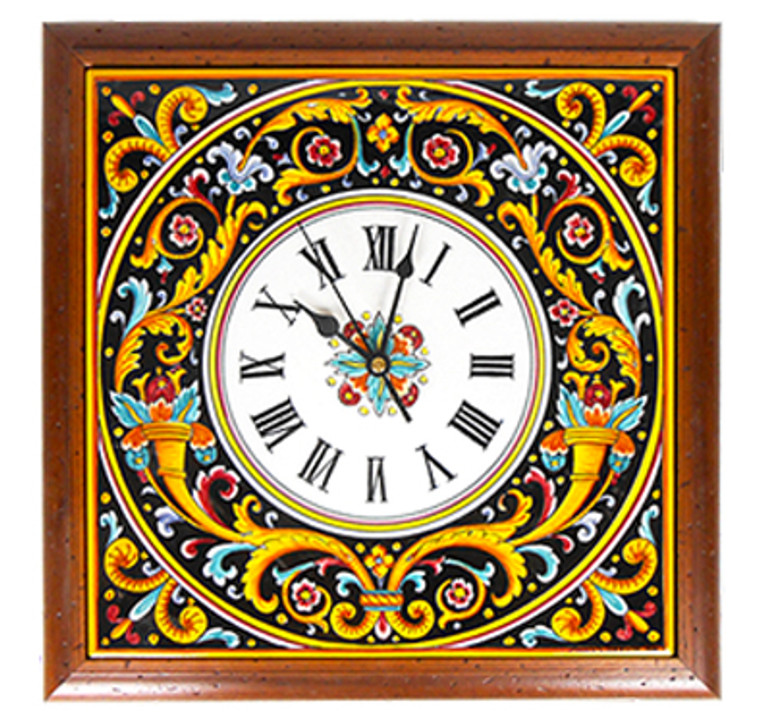 Cornucopia Nera Clock