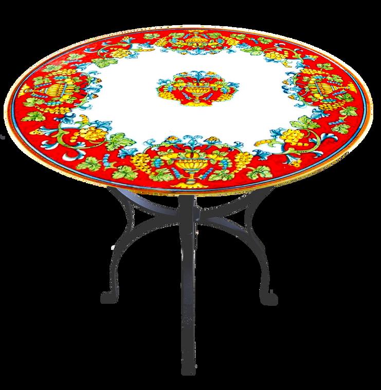 The Stone Table Cornucopia Rossa 31.5 Inches Diameter