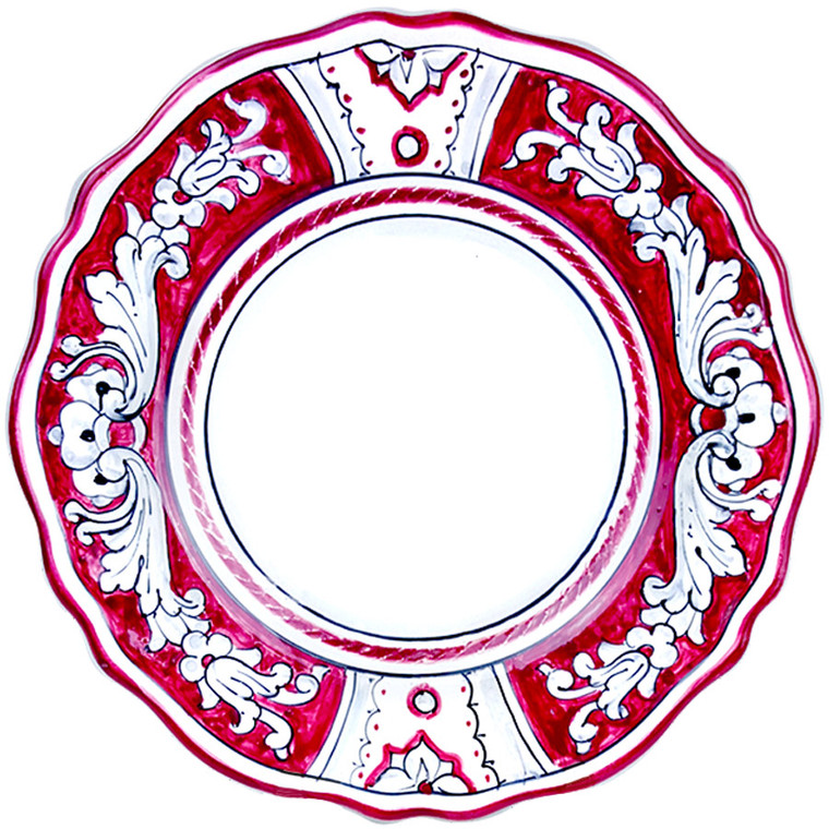 Dinner plate '600 Fondo Rosso
