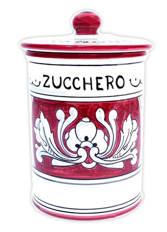 Ceramics Sugar jar deruta pottery marks '600 fondo rosso