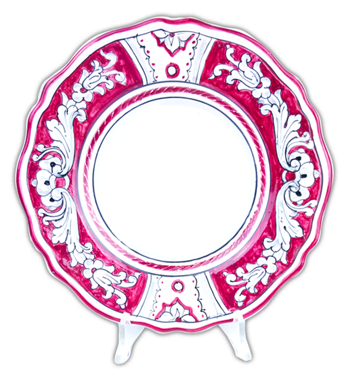 Pasta soup plate '600 background red