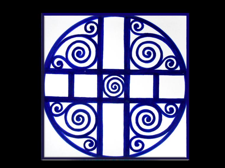 Geometrico Blu Tile 7,8 x 7,8 Inches