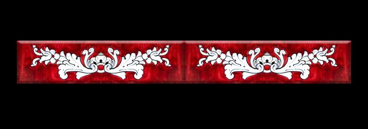 Italian ceramics double tiles with 600 fondo rosso decoration