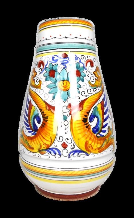 Raphaelesque hand-painted ceramic deruta bath brush fronte