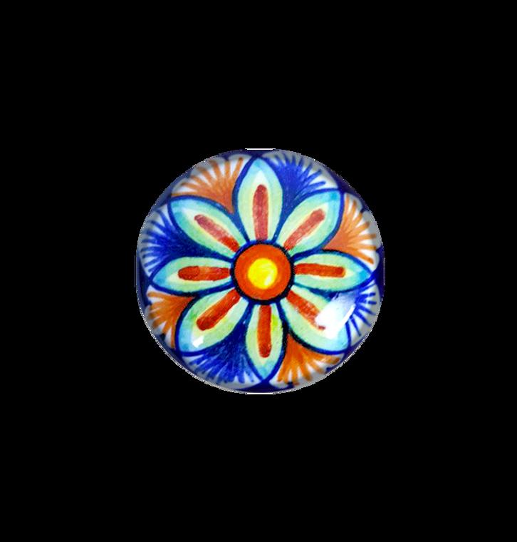 Ceramic drawer knobs yellow, blu, orange