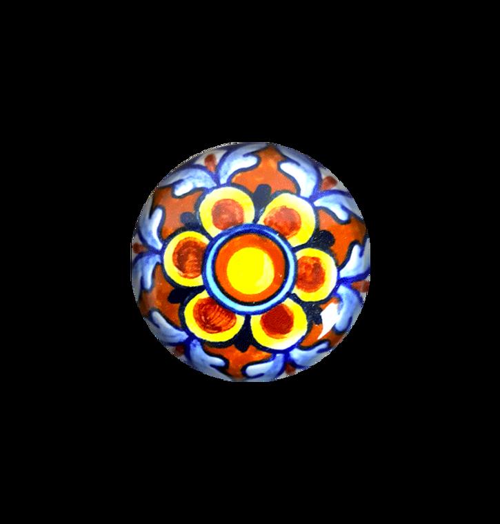 Deruta pottery knob hand painted