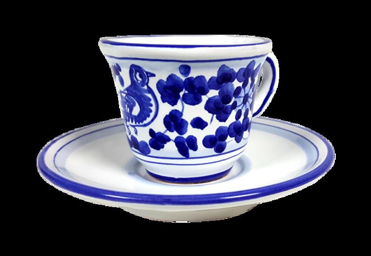 Espresso cup and saucer Arabesco Blu