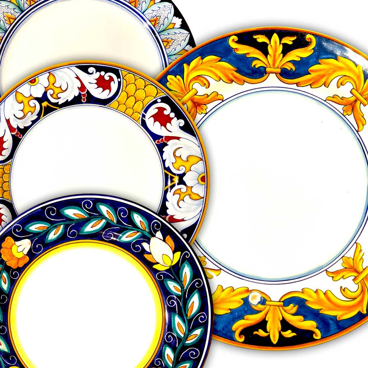 Italian pottery tableware made in Italy-Elegant Underplates