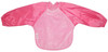 Our Long Sleeve Bib is terrific for self-feeders! The water-resistant nylon sleeves provide extra protection from food wobbling off a spoon or fork. The open back allows babies and kids to stay cool and makes it easy to get on and off.  Front is made from Snuggly velour cotton towelling with the unique snuggle neck guard which sits snug against your baby's neck to stop dribbles and spills. Backing is made with a water-resistant nylon to keep clothing and kids clean and dry!  Small: 6 months – 2 years - dimensions W28 x L30cm