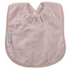 "These bibs are a favourite of Mums and Dads everywhere – ""Best Bibs ever"" they say! The Towel Bib range is made from premium quality 100% cotton velour front and non-rip nylon backing. It has the unique Snuggle Neck guard to protect your baby's delicate skin from dribbles and spills.  This bib is designed for bottle or breast feeding and for the messy first days of solids. Easy wash and tumble dry safe, they stay soft and bright, wash after wash.  Dimensions:  24cm x 21cm"
