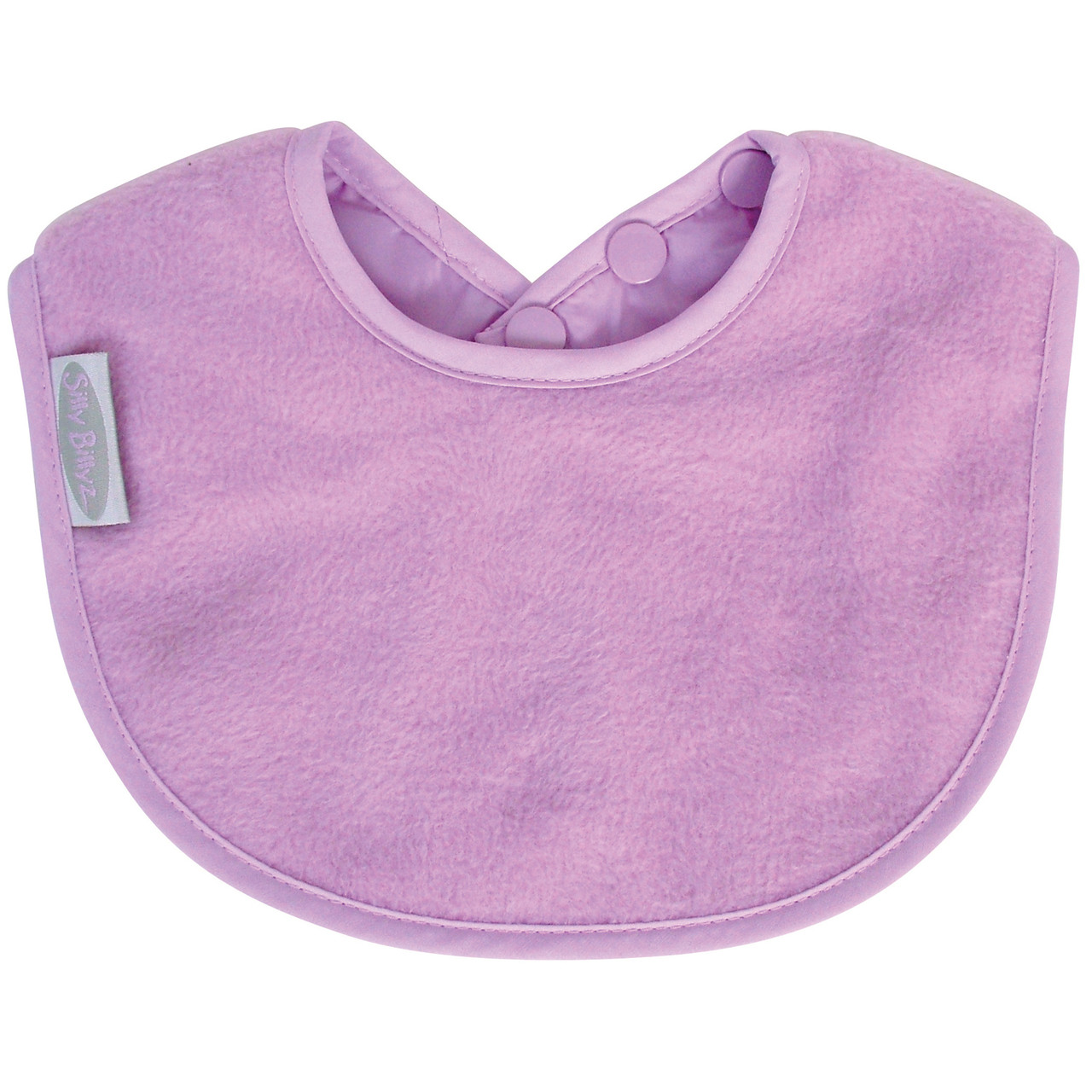 mauve fleece biblet silly billyz best bibs eversized just right to be your baby\u0027s first bib! the soft and liquid repellent fabric