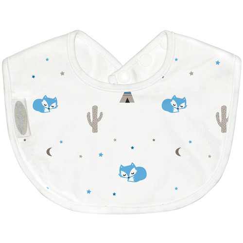 Sized just right to be baby's first feeding bib. The beautifully soft cotton jersey is absorbent and gentle on little faces. Dimensions: 19cm x 25cm