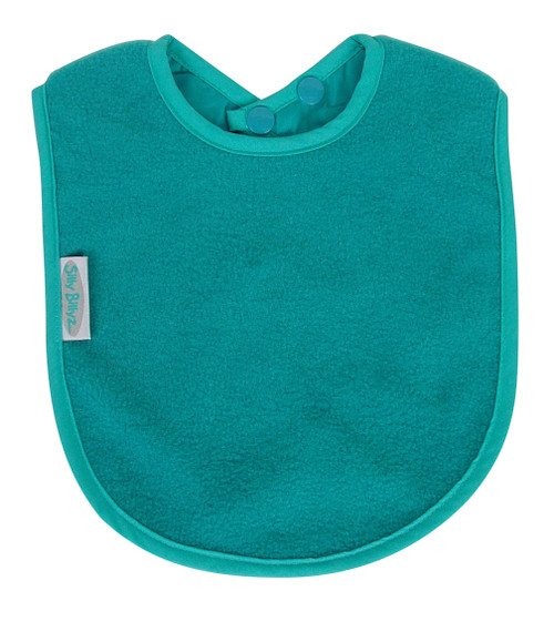 Perfect for bottle feeding your baby or starting to eat solids. Fleece allows for quick wipe down of liquids.  Dimensions: 24cm x 21cm