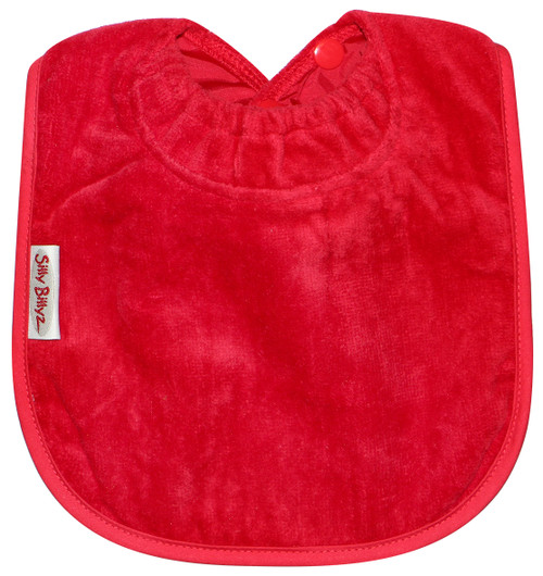 Designed for bottle or breast feeding and for the messy first days of solids. Dimensions: 24cm x 21cm