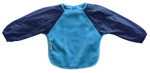 Our Long Sleeve Bib is terrific for self-feeders! Durable fleece front is suitable for both feeding and messy playtime.