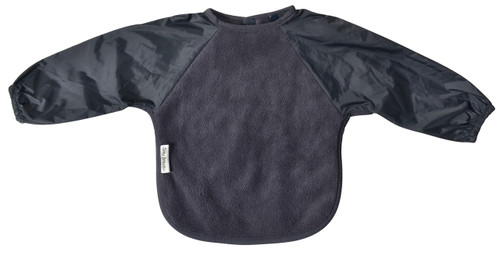 Our Long Sleeve Bib is terrific for self-feeders! The water-resistant nylon sleeves provide extra protection from food wobbling off a spoon or fork. Durable fleece front is suitable for both feeding and messy playtime. Backing is made with a water-resistant nylon to keep clothing and kids clean and dry! A great all-rounder.  Small: 6 months – 2 years - dimensions: W28cm x L30cm  Large: 12 months – 3 years – dimensions: W33cm x L36cmOur Long Sleeve Bib is terrific for self-feeders! The water-resistant nylon sleeves provide extra protection from food wobbling off a spoon or fork. Durable fleece front is suitable for both feeding and messy playtime. Backing is made with a water-resistant nylon to keep clothing and kids clean and dry! A great all-rounder.  Small: 6 months – 2 years - dimensions: W28cm x L30cm  Large: 12 months – 3 years – dimensions: W33cm x L36cmOur Long Sleeve Bib is terrific for self-feeders! The water-resistant nylon sleeves provide extra protection from food wobbling off a spoon or fork. Durable fleece front is suitable for both feeding and messy playtime. Backing is made with a water-resistant nylon to keep clothing and kids clean and dry! A great all-rounder.  Small: 6 months – 2 years - dimensions: W28cm x L30cm  Large: 12 months – 3 years – dimensions: W33cm x L36cm
