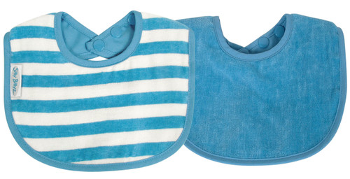 The fabulous Silly Billyz Organic Plain Large Bib is ideal for babies with skin allergies and has a double press stud closure to fit most sizes. The beautifully soft and luxurious organic cotton is more durable than regular cotton so will last longer. Perfect for bottle or breast feeding and feeding solids. Stain resistant too!  Suggested Age: 6mths to 3 years  Dimensions:  19cm x 25cm