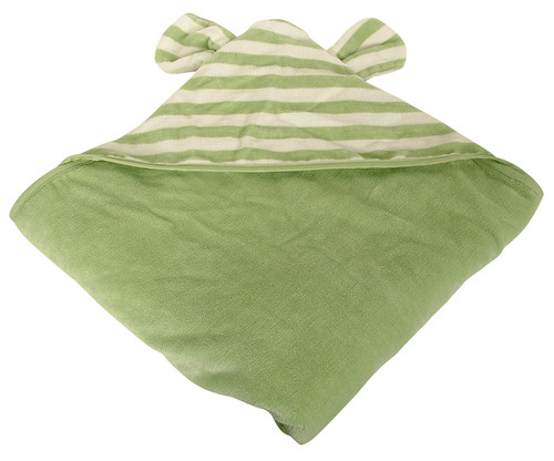 Just too cute!! Wrap your bub after the tub in this plush quality Organic Hooded Bath Towel. Beautifully designed with love and cuddles in mind and made from super soft organic cotton, it is perfect for sensitive skin. Your bub will feel warm and nurtured with this super long, hooded towel making wrapping your bub a piece of cake.  Our organic hooded bath towels are a nice big 128 cm wide x 130 cm long.