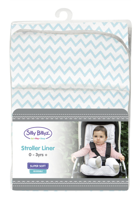 Made with gorgeous contemporary designer jersey cotton front, our stroller liners are soft on your babies skin while still protecting your stroller from mess. Our stroller liners are easy to install and remove for washing. Silly Billyz stroller liners fit most strollers on the market and are machine washable and tumble dry safe so they stay looking gorgeous.