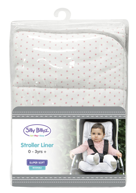 Our stroller liners are easy to install and remove for washing. Silly Billyz stroller liners fit most strollers on the market and are machine washable and tumble dry safe so they stay looking gorgeous.