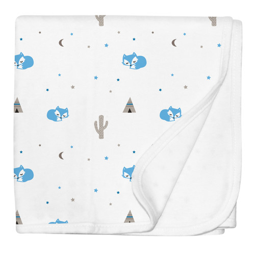 Made from natural cotton jersey, this super soft, single layer, lightweight blanket, has been carefully developed by our Silly Billyz mums for maximum breathability and softness. Featuring fun and playful designs, these blankets are luxuriously light and cosy and perfect for use in the stroller, bassinet, cot or as a cover while breast feeding. Sized at 85 x 85 cm these blankets offer a contemporary look for home and out and about.