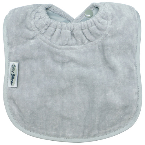 This bib is designed for bottle or breast feeding and for the messy first days of solids. Easy wash and tumble dry safe, they stay soft and bright, wash after wash.