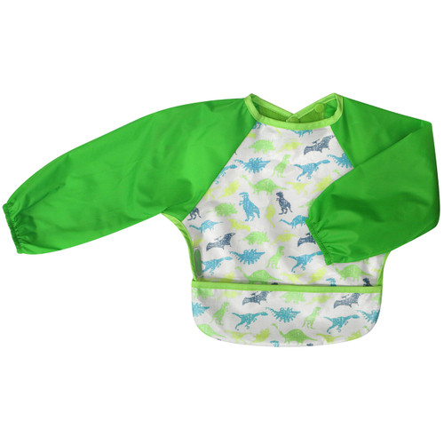 Simply wipe the coated front section of the bib down after every meal and wash it as necessary. Clever food catching pocket makes life easier for Mum and double pop snap closure allows you to pop the bib on in a flash.