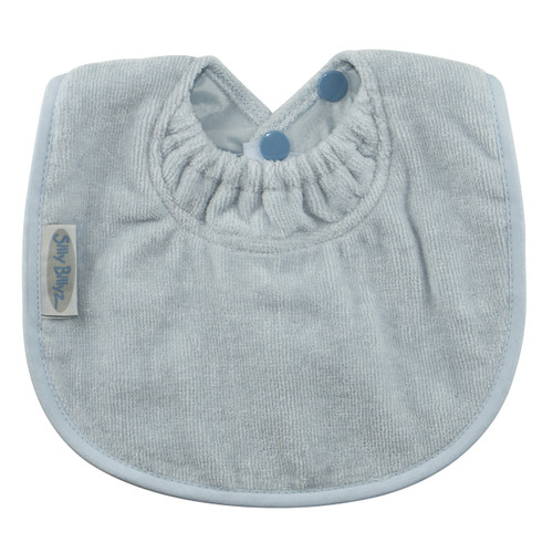 Sized just right to be your baby's first bib! The soft and absorbent towelling fabric will keep baby's sensitive skin dry, plus it protects those first sweet outfits.