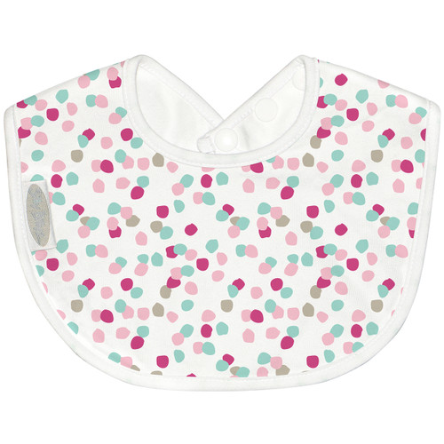 Sized just right to be baby's first feeding bib. The beautifully soft cotton jersey is absorbent and gentle on little faces. Easy wash and wear, perfect for breast or bottle feeding bubs.