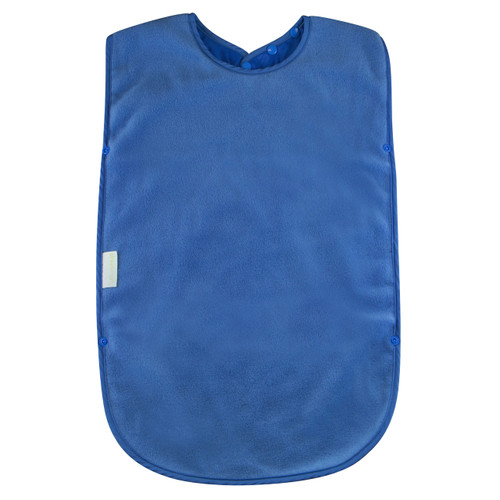 `- Easy snap on and adjustable neck - Absorbent anti-pill fleece - Stain and water resistant nylon backing - Machine washable and tumble dry safe