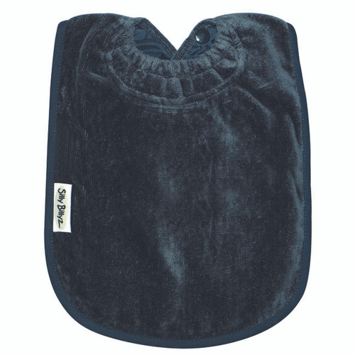 """These bibs are a favourite of Mums and Dads everywhere – """"Best Bibs ever"""" they say! The Towel Bib range is made from premium quality 100% cotton velour front and non-rip nylon backing. It has the unique Snuggle Neck guard to protect your baby's delicate skin from dribbles and spills.  This bib is designed for bottle or breast feeding and for the messy first days of solids. Easy wash and tumble dry safe, they stay soft and bright, wash after wash.  Dimensions:  29cm x 26cm"""