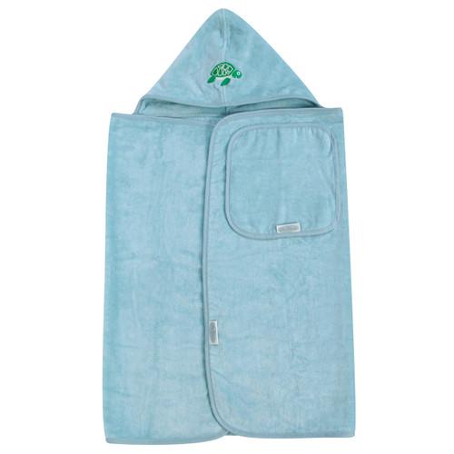 Sky Blue Hooded Towel & Face Cloth Set