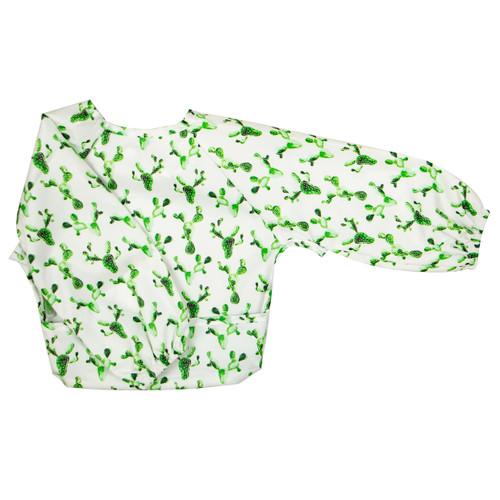 Wipe Clean Long Sleeve Bib Cactus
