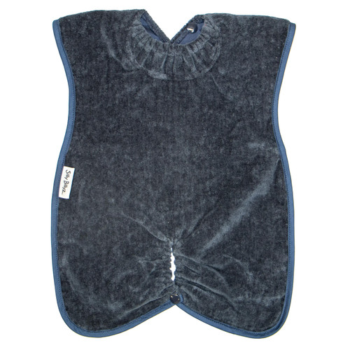 Navy Towel Highchair Hugger Bib