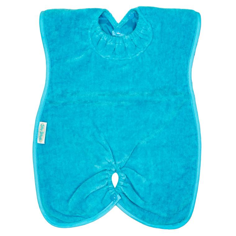 Aqua Towel Highchair Hugger Bib