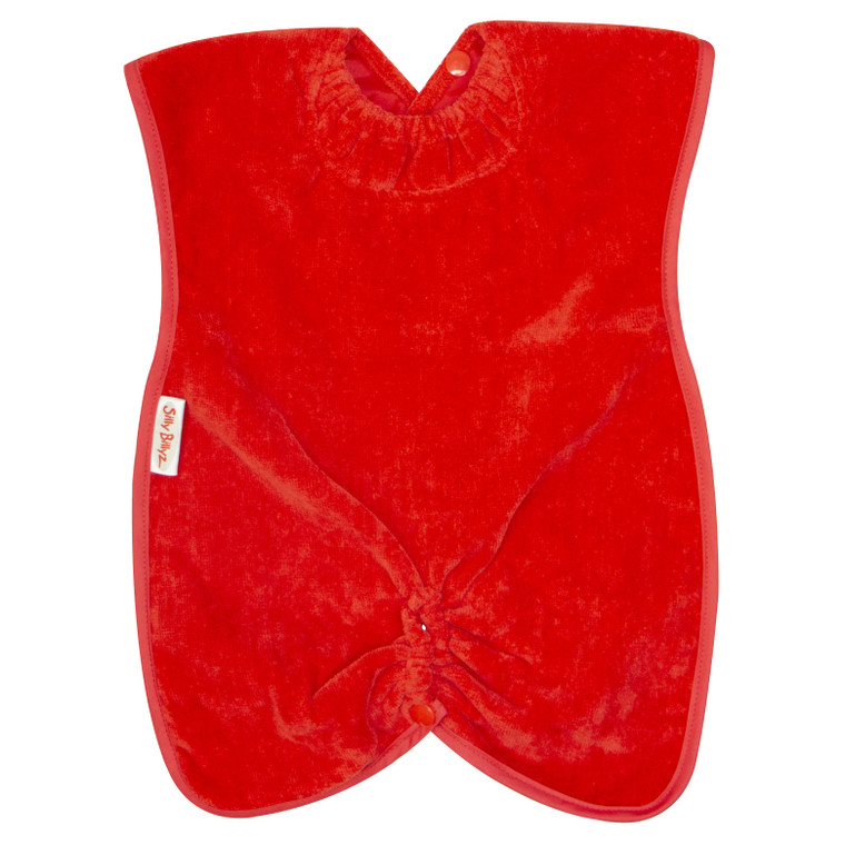Red Towel Highchair Hugger Bib