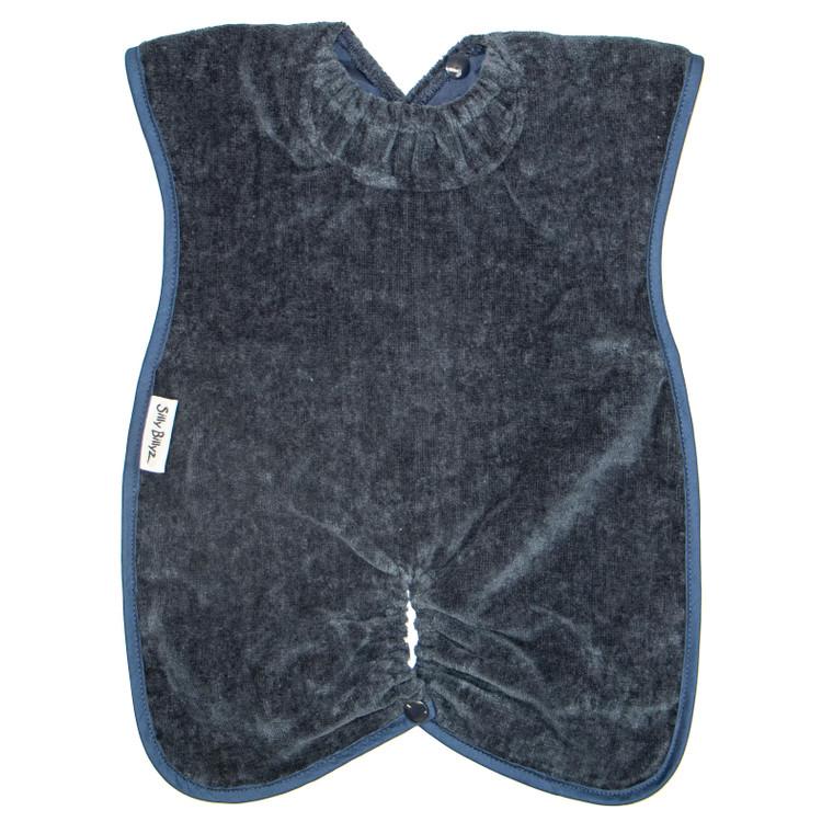 Navy Towel Highchair Hugger Bib