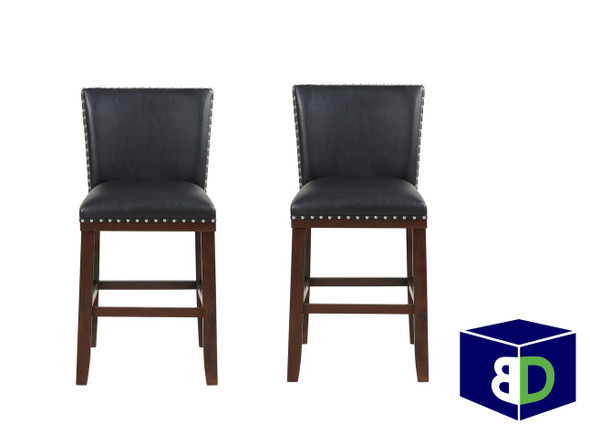 Avanca Black KD Counter Stool, set of 2
