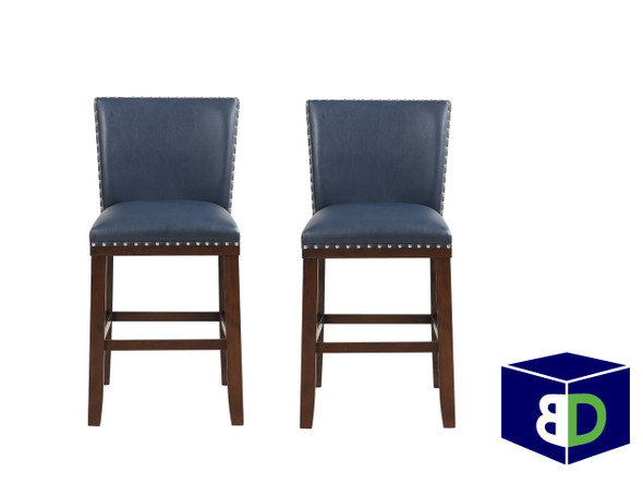 Avanca Navy KD Counter Stool, set of 2