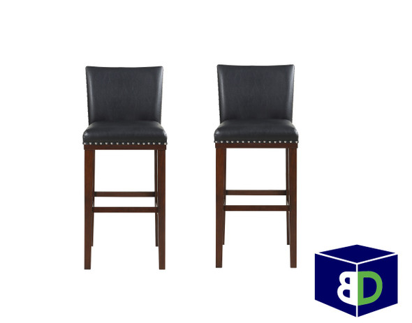 Avanca Black KD Bar Stool, set of 2