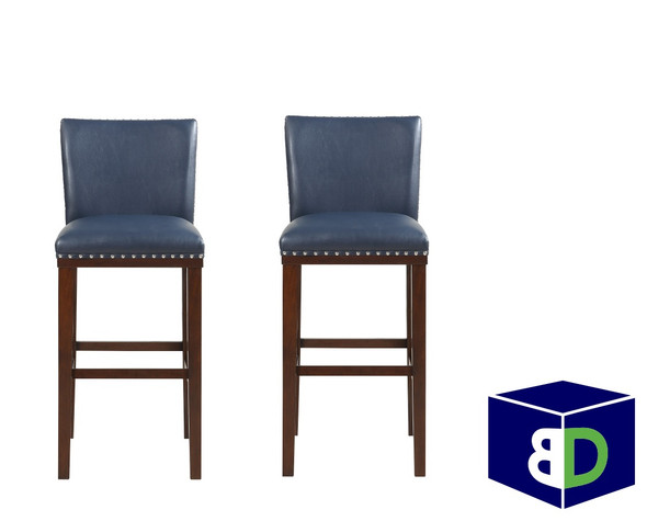 Avanca Navy KD Bar Stool, set of 2