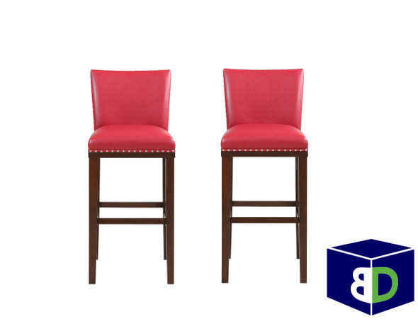 Avanca Red KD Bar Stool, set of 2