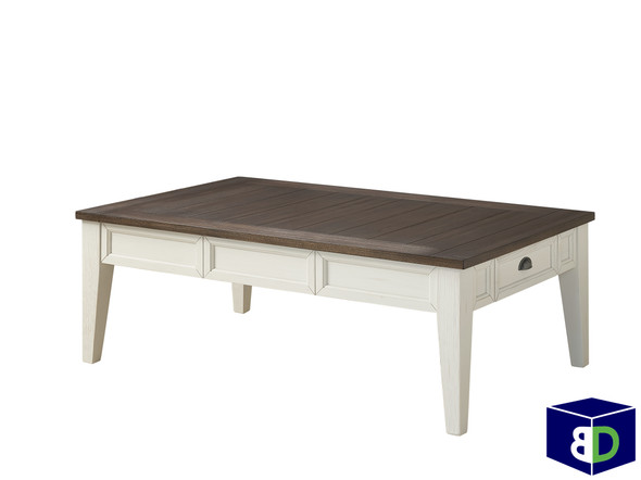Craft Cocktail Table Dark Oak, White